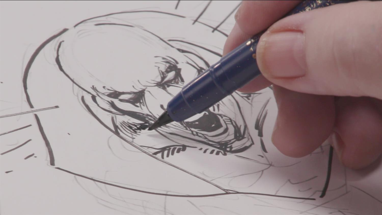 Watch Comic Book Artist Neal Adams Sketch Deadman