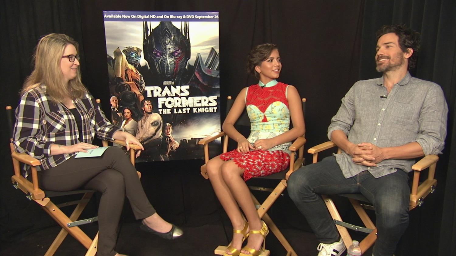 Transformers: The Last Knight's Santiago Cabrera and Isabella Moner on Stunts and Frekaing Out