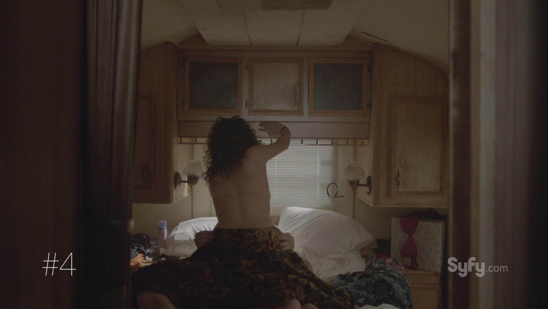 Bedroom curtains open sex scene