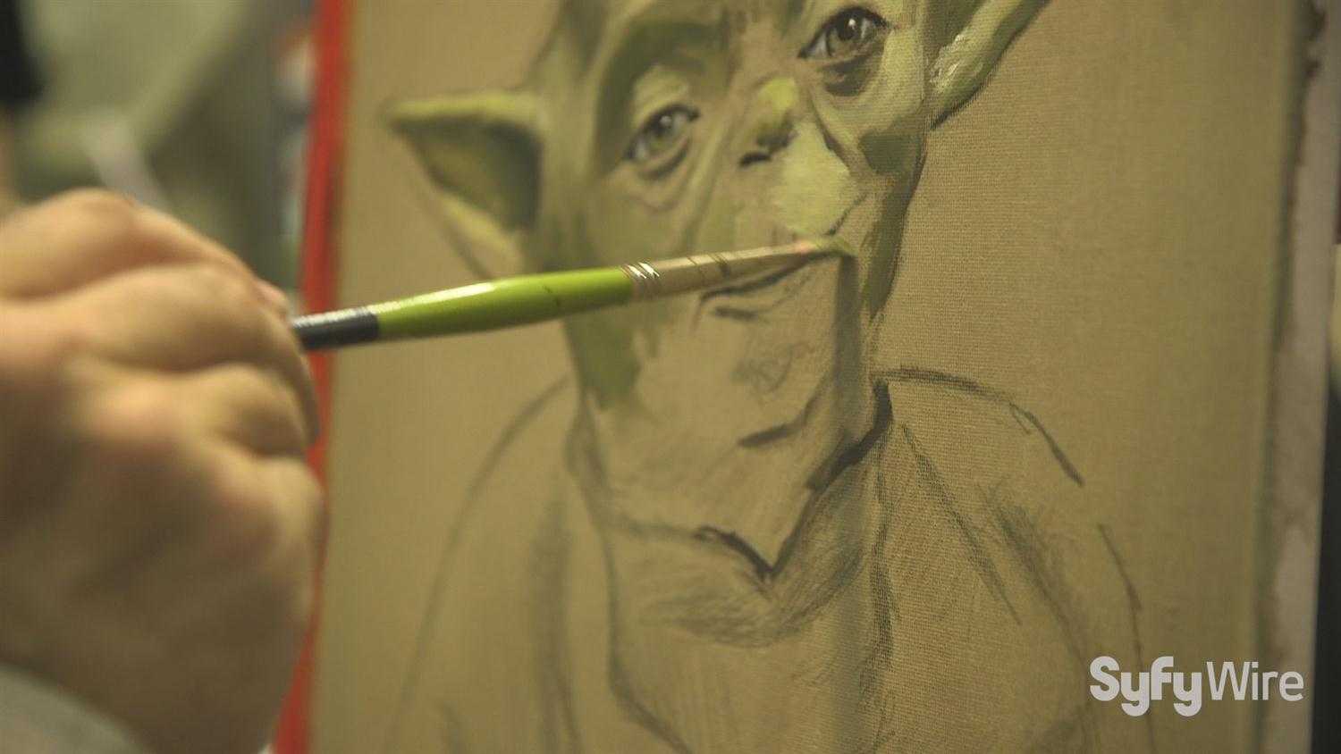 Watch Yoda from Star Wars Be Painted