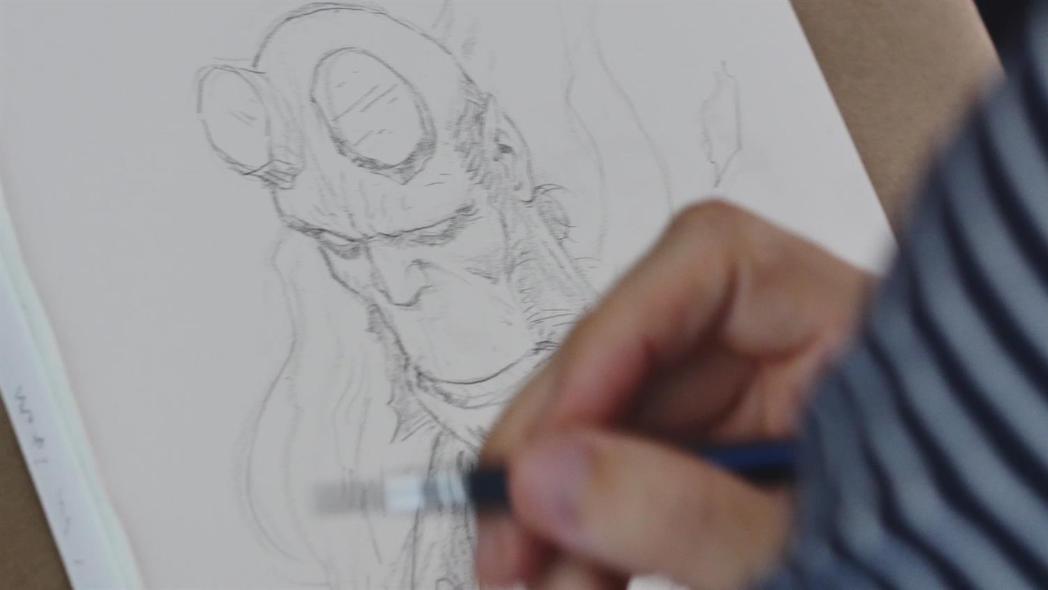 Watch Paolo Rivera Sketch Hellboy
