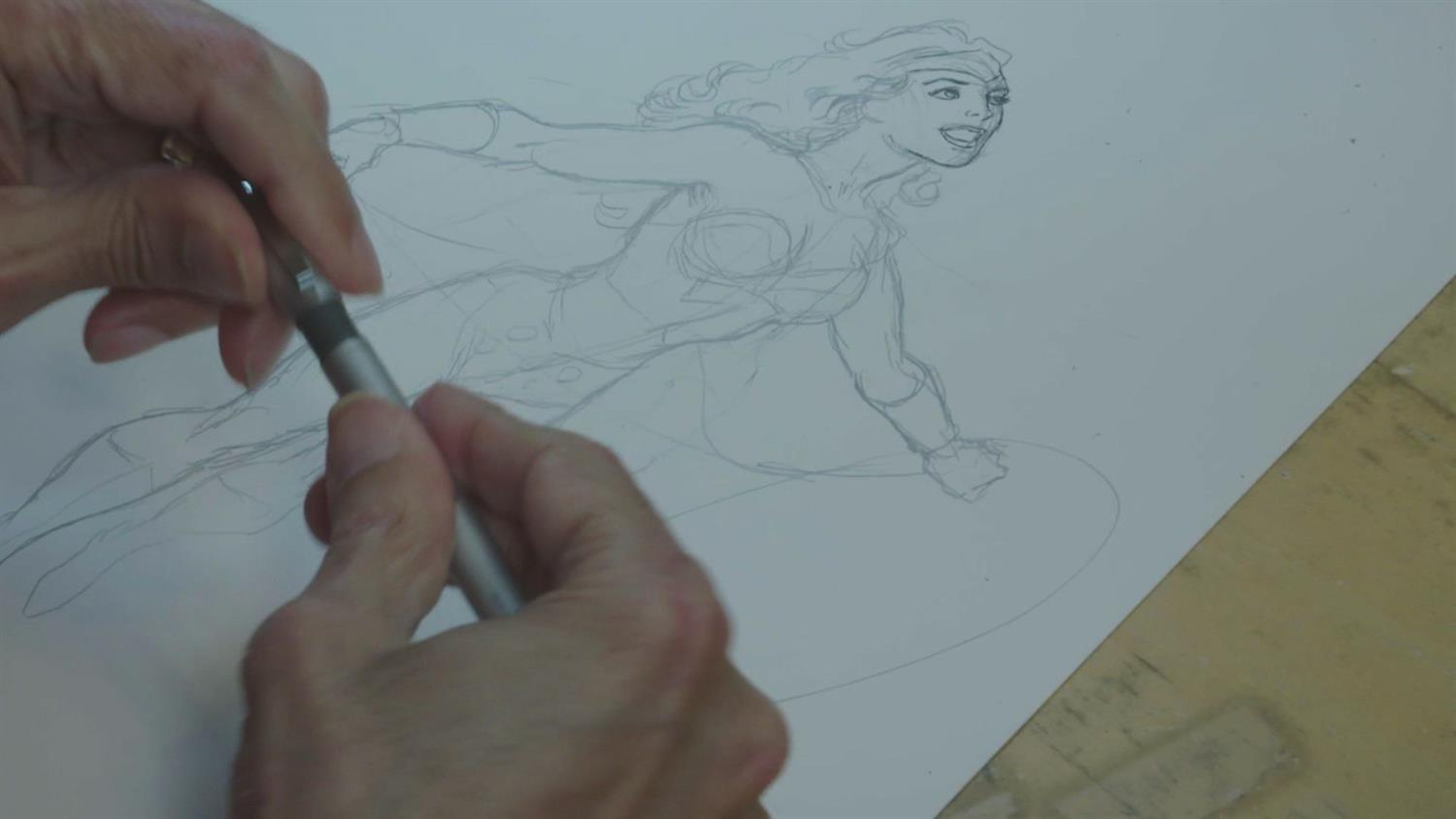 Watch George Perez Sketch Wonder Woman