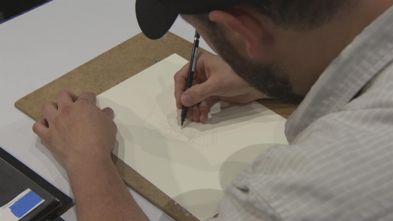 Watch Ryan Ottley Sketch Invincible