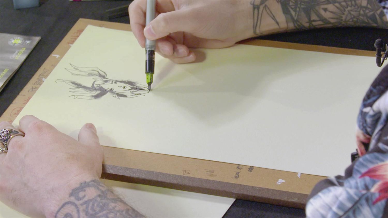 Watch Comic Book Artist Jim Mahfood Sketch Grrl Scouts