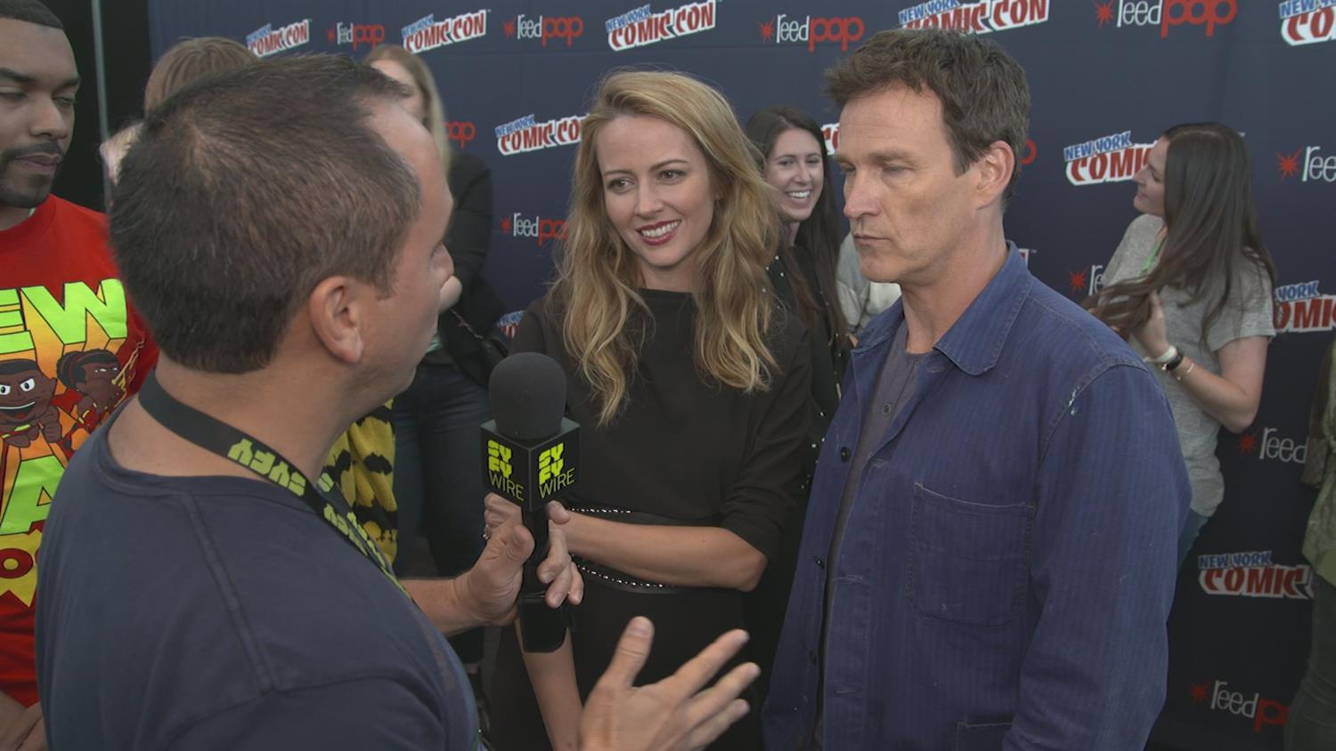 X-Men/The Gifted Amy Acker and Stephen Moyer: Not Your Typical Parents