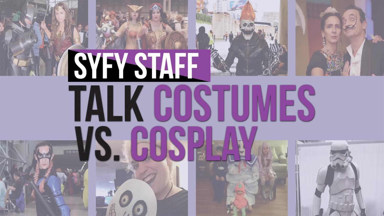 We talk costumes vs. cosplay