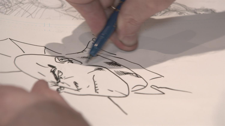 Watch Erik Larsen Sketch Savage Dragon (Artists Alley)
