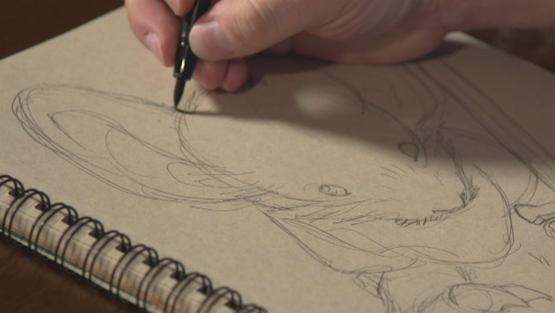 Watch David Peterson Sketch Mouse Guard