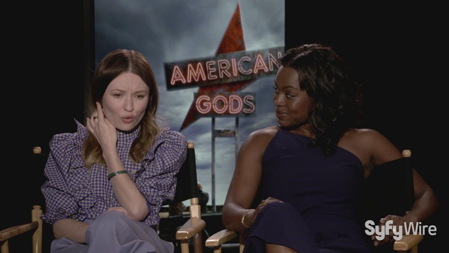 American Gods' Emily Browning and Yetide Badaki on Book Changes, Being Nerds