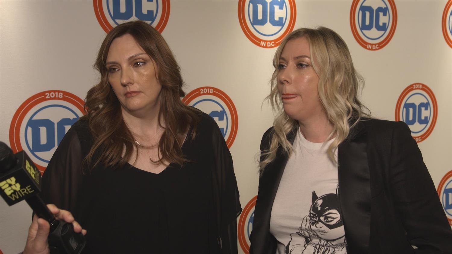 Julie and Shawna Benson on a White Canary Comic, The 100 and More