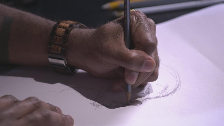 Watch Khary Randolph Sketch Storm (Artists Alley)