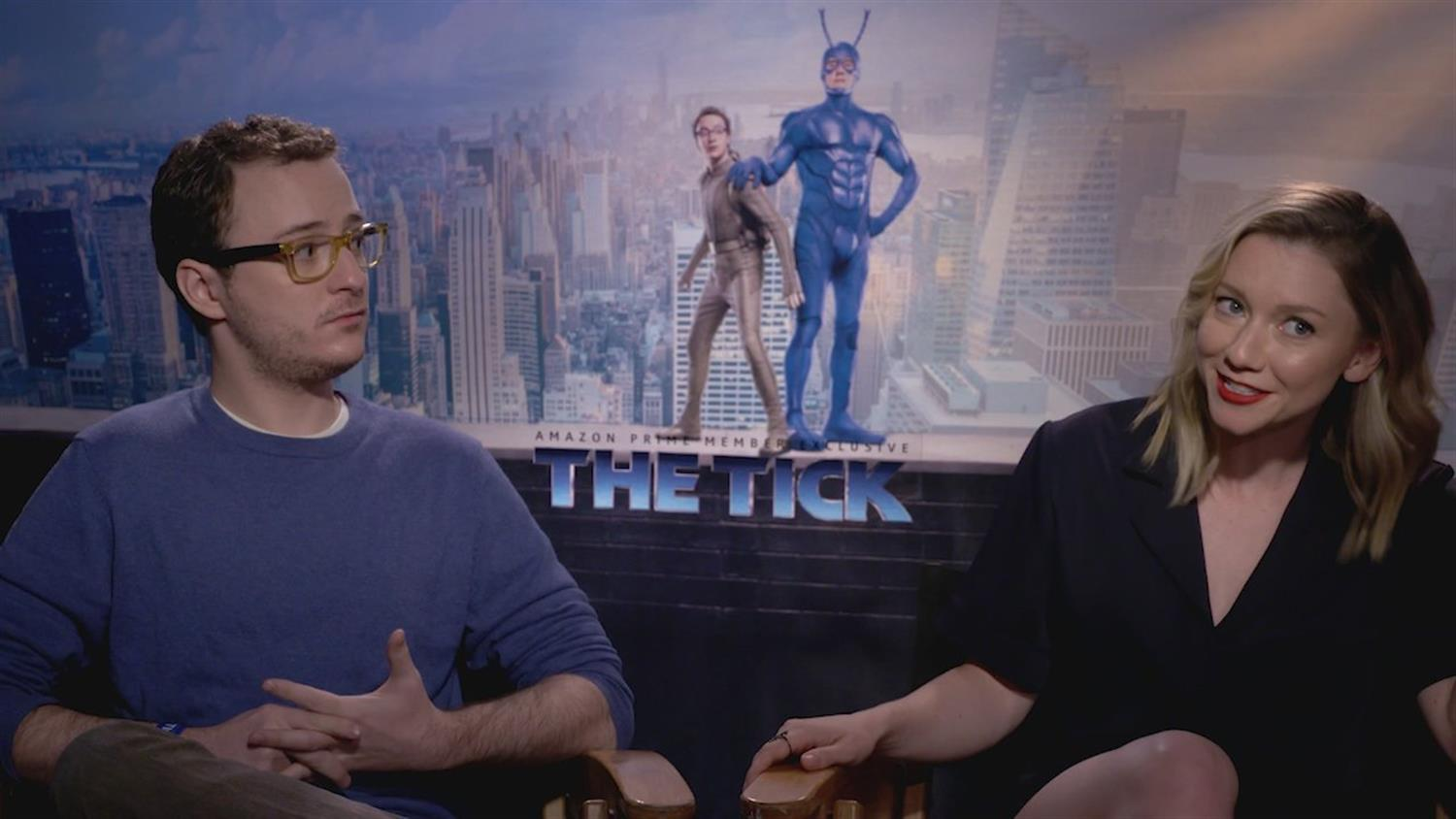 The Tick's Valorie Curry and Griffin Newman on Secret Identities and Costumes